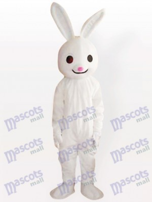 Pink Nose Easter Bunny Rabbit Adult Animal Mascot Costume