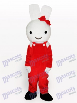 Easter Red Rabbit Animal Adult Mascot Costume