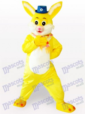 Easter Yellow Rabbit Animal Adult Mascot Costume