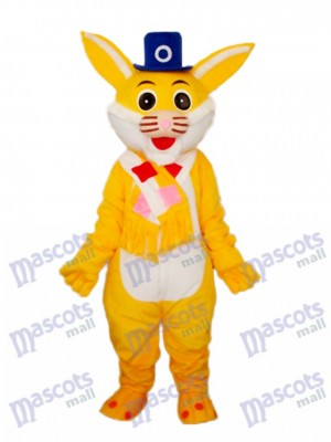 Easter Yellow Rabbit Mascot Adult Costume Animal