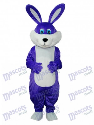 Easter Purple Rabbit Mascot Adult Costume Animal