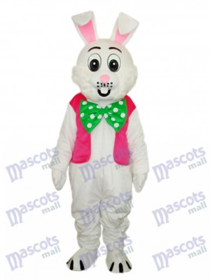 Easter Pink Vest Rabbit Mascot Adult Costume Animal