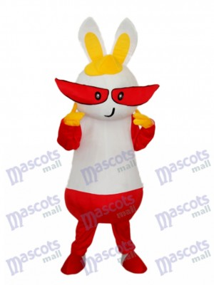 Easter Yellow Hat Rabbit Mascot Adult Costume Animal