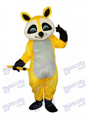 Yellow Raccoon Mascot Adult Costume Animal