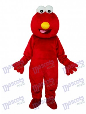 Long-haired Red Cookie Monster Mascot Adult Costume Cartoon Anime