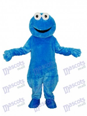 Long-haired Cookie Monster Mascot Adult Costume Cartoon Anime