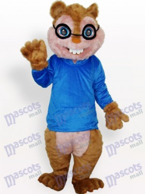 Blue Squirrel Animal Adult Mascot Costume