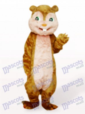 Brown Long Hair Squirrel Animal Adult Mascot Costume