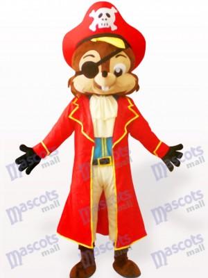 Pirate Squirrel Animal Adult Mascot Costume