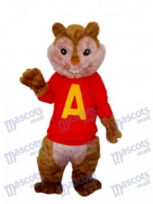 Alvin Chipmunk Mascot Adult Costume Animal