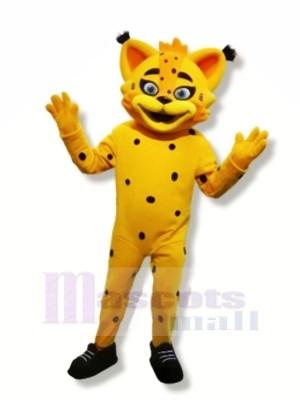Yellow Lynx Mascot Costumes Cartoon