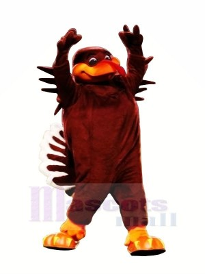 Red Hokie Bird Mascot Costumes Cartoon