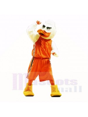 Sport Duck with Orange Shirt Mascot Costumes Adult
