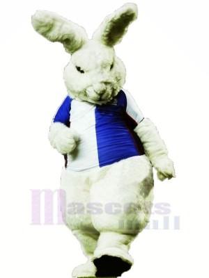 Fierce White Rabbit Mascot Costumes Cartoon