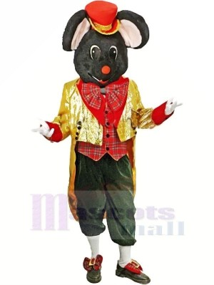 Christmas Gentleman Mouse with Mascot Costumes Animal