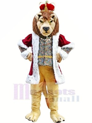 King Lion Mascot Costumes Adult