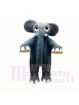 Strong Grey Elephant Mascot Costumes Adult