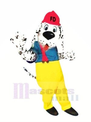 Dog with Red Hat Mascot Costumes Cartoon