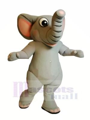 Realistic Grey Elephant Mascot Costumes Cartoon
