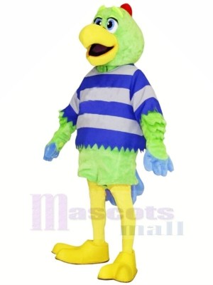 Green Parrot with Yellow Beak Mascot Costumes Animal