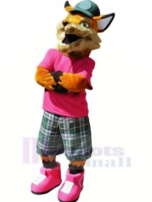 Realistic College Fox Mascot Costumes Cartoon