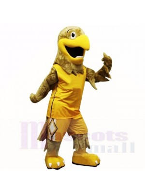 Sport Yellow Hawk Mascot Costumes Cartoon