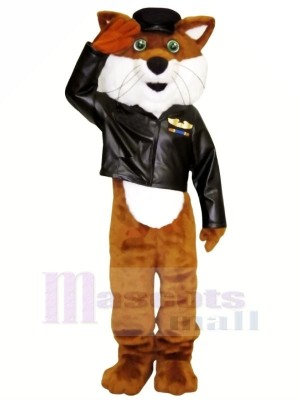 Pilot Fox in Jacket Mascot Costumes Cartoon