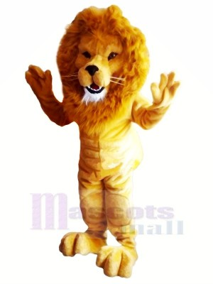 Power Muscular Lightweight Lion Mascot Costumes Adult