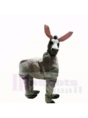 Cute Grey Two Person Donkey Mascot Costumes Cartoon