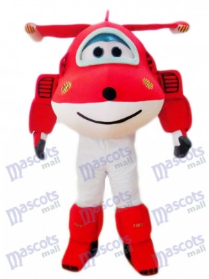 Red Jet Airplane Jett Cartoon Super Wings Plane Mascot Costume Cartoon Anime