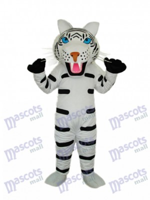 Black and White Tiger Mascot Adult Costume Animal