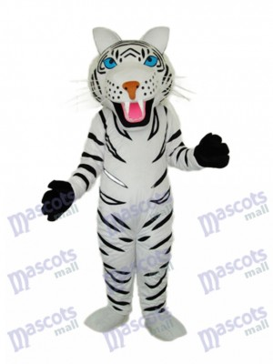 White Tiger Mascot Adult Costume Animal