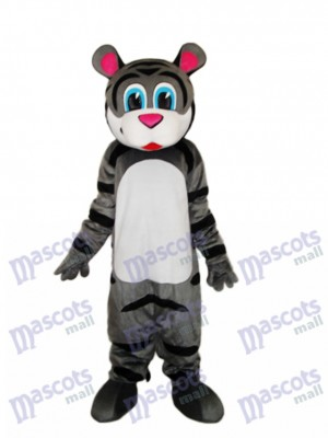 Small Gray Tiger Mascot Adult Costume Animal
