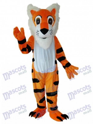 Long Beard Tiger Mascot Adult Costume Animal