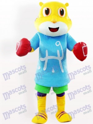 Tiger In Blue Clothes Animal Adult Mascot Costume