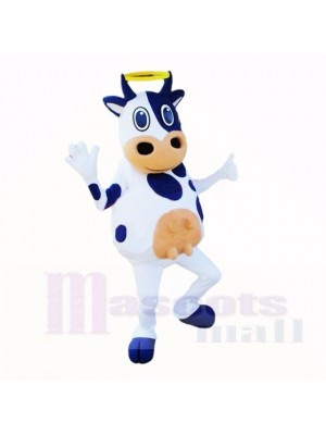 White and Black Friendly Lightweight Cow Mascot Costumes Cartoon