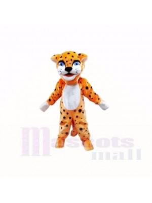 Smiling Friendly Lightweight Leopard Mascot Costumes Cartoon