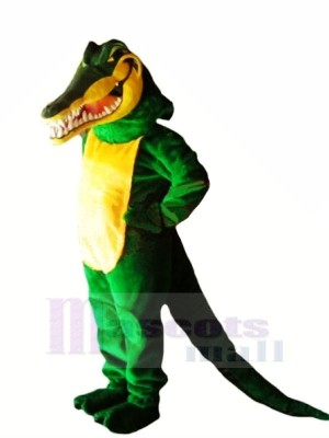 Green Crocodile with Long Tail Mascot Costumes