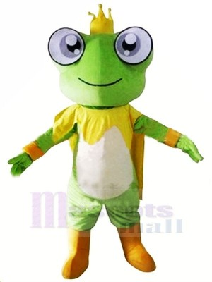 King Frog Mascot Costumes Cartoon