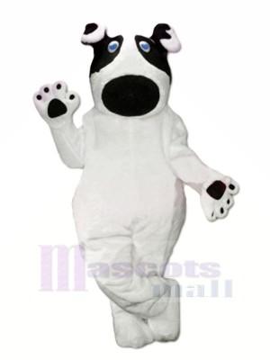 Lovely White Dog Mascot Costumes Cartoon