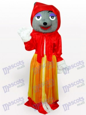 Red Wolf Adult Anime Mascot Costume
