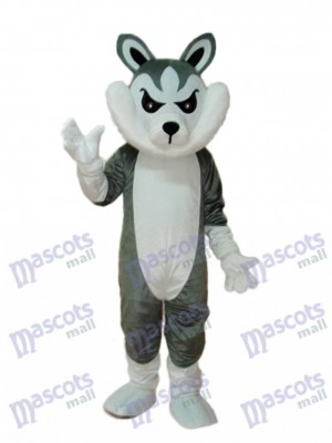 Big Grey Wolf Mascot Adult Costume Animal