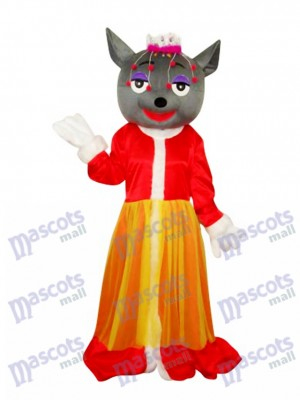 Red Wolf Mascot Adult Costume Animal