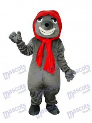 Grey Bad Wolf Adult Mascot Costume Animal