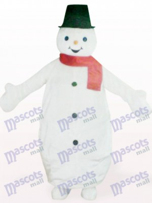 Black Hat Snowman Animal Christmas Xmas Mascot Costume