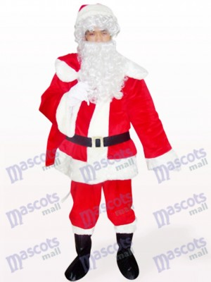 Christmas Xmas Red Santa Open Face Mascot Costume