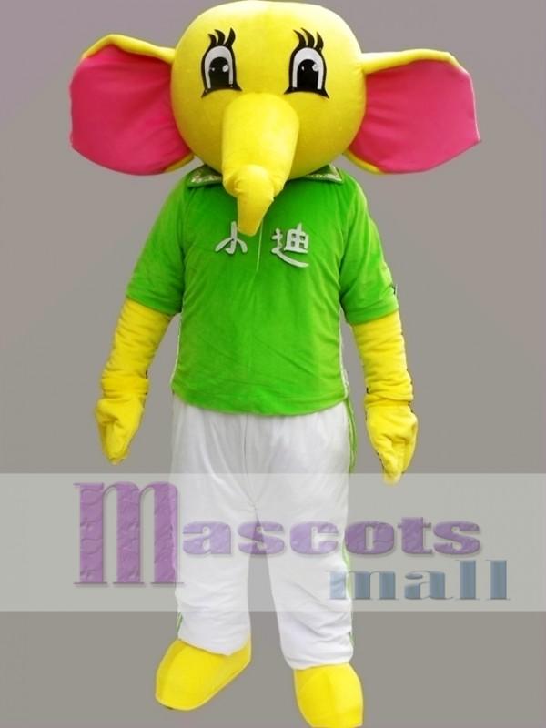 Yellow Elephant Mascot Costume Cartoon