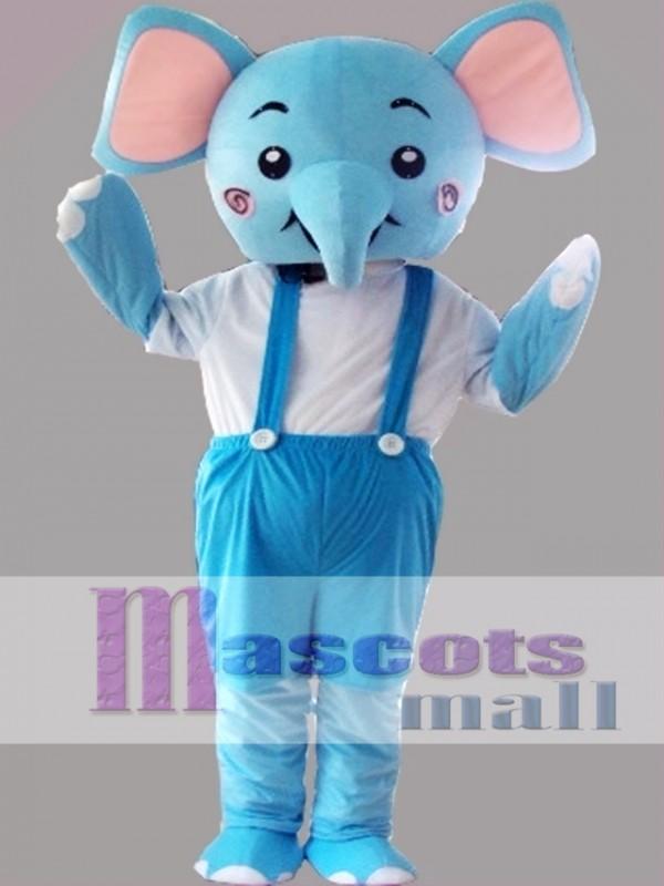 Blue Elephant Mascot Costume Cartoon