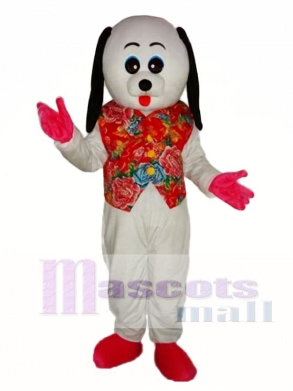 White Dog Mascot Adult Costume