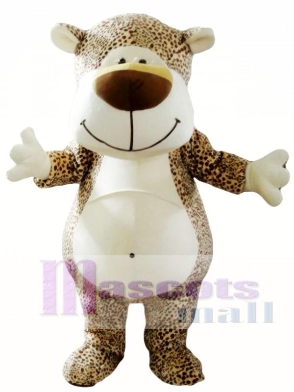 Cute Cartoon Leopard Mascot Costume